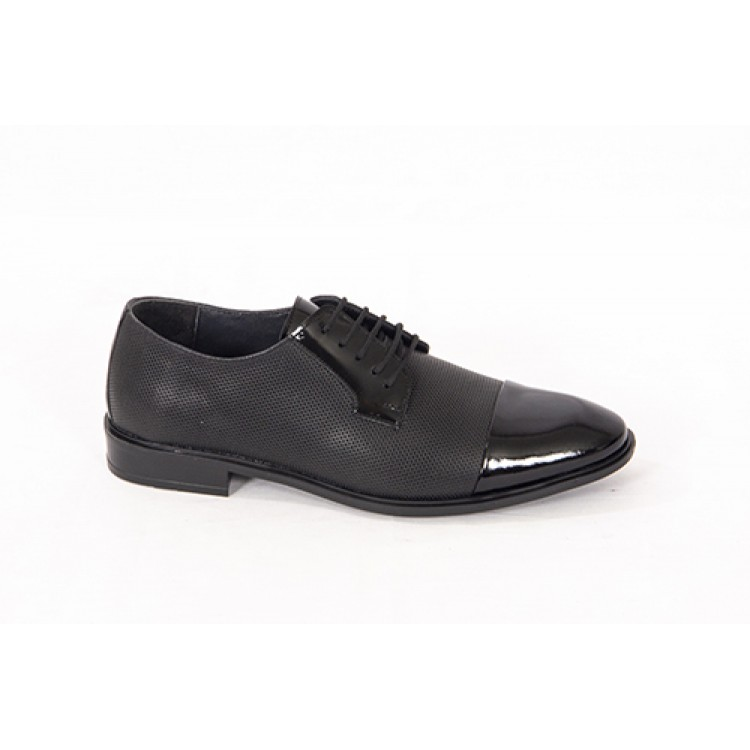 Lace-up Analin Patent Leather Neolite Sole Shoes 7512